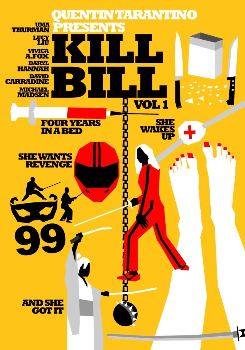 Colección de pósters minimalistas de las películas de Quentin Tarantino